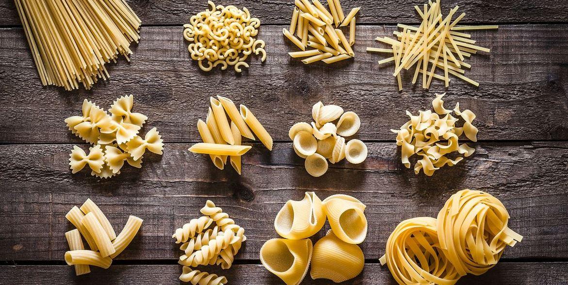 Mange varianter av pasta